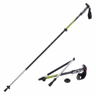 Naturehike 4 Sección Trekking Pole Plegable Walking Stick Camping Ultraligero Aluminio Alpenstock