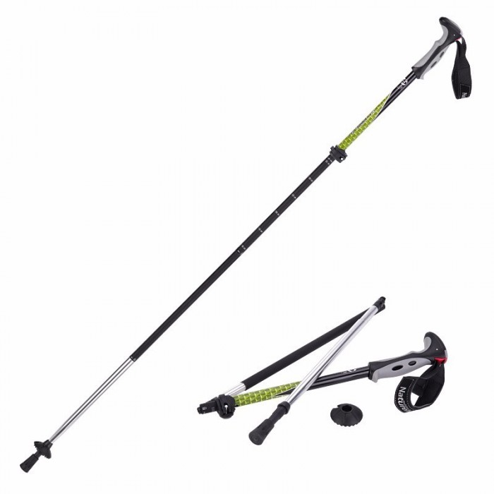 Naturehike 4 Section Trekking Pole Folding Walking Stick Camping Ultralight Aluminium Alpenstock