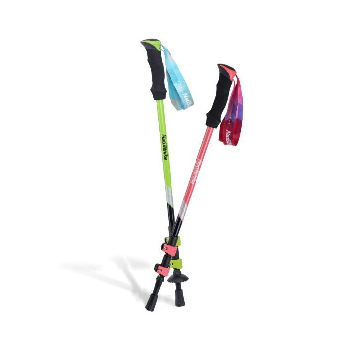 Naturehike 3 Section Trekking Pole Adjustable Folding Walking Stick Camping Aluminium Alpenstock