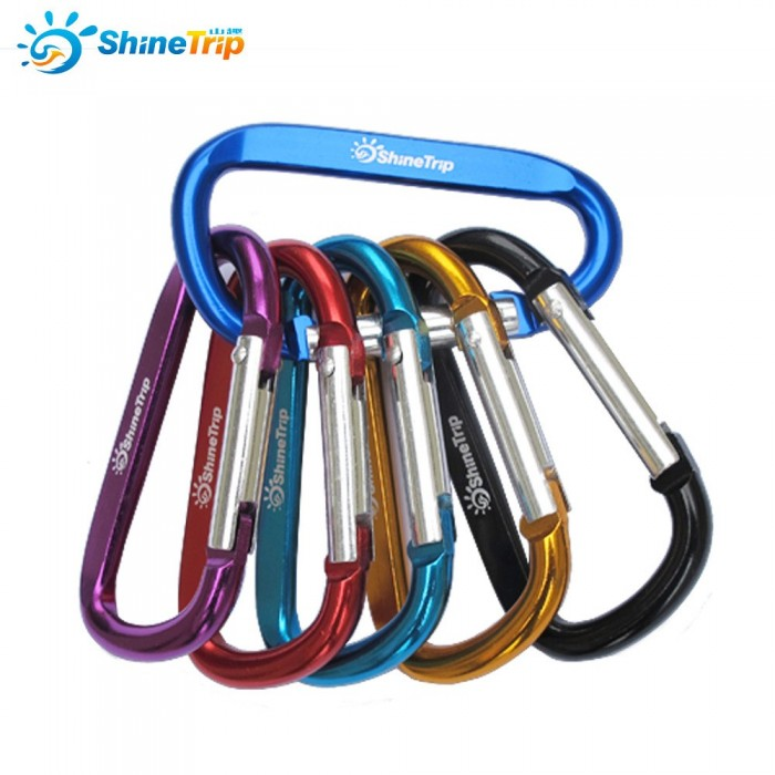 SHINETRIP Aluminum Buckles Outdoor Camping Multi-function Hooks Key Chain Carabiner Tools