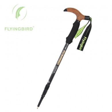 FLYINGBIRD Ft6 Fibra de carbono en forma de T Alpenstock Ultralight Telescopic Adjustable Locking Sticks
