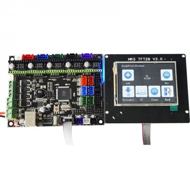 MKS-GEN L V1.0 Integrated Controller Mainboard + 2.8 Inch MKS-TFT28 Full Color LCD Touch Screen Support Power Resume Print For 3