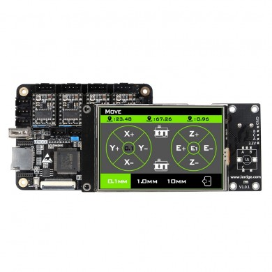 Lerdge® X Integrated Controller Board Mainboard With 32-bit Coretx-M4 Core Control Unit + 3.5inch LCD Touch Screen + 4PCS DRV882
