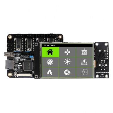 Lerdge® X Integrated Controller Board Mainboard With 32-bit Coretx-M4 Core Control Unit + 3.5inch LCD Touch Screen + 4PCS LV8729