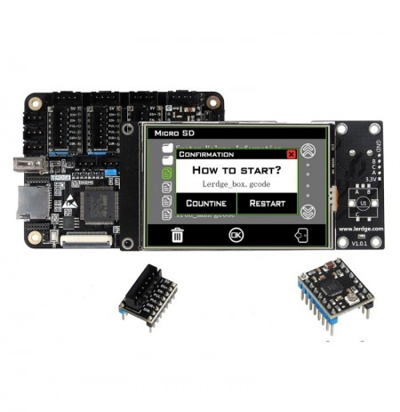 Lerdge® X Integrated Controller Board Mainboard With 32-bit Coretx-M4 Core Control Unit + 3.5inch LCD Touch Screen + 3PCS Extern