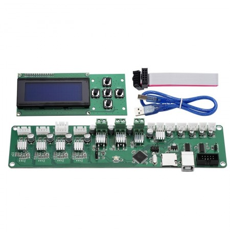 Melzi 2.0 1284P PCB Board IC ATMEGA1284P + 2004 LCD Keypad Display For Tronxy 3D Printer Mainboard