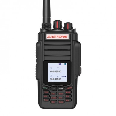 Zastone A19 10W Dual Band Walkie Talkie UHF 400-480MHz VHF 136-174MHz PTT Two Way Radio Transceiver