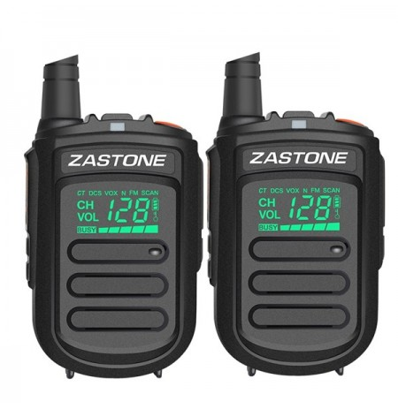 2Pcs Zastone mini9 Walkie Talkie UHF 400-470MHz Zwei-Wege-Radio FM Transceiver Communicator Radio