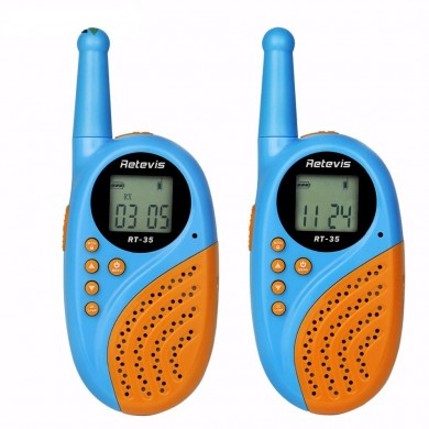 1Pair Retevis RT-35 Kids Mini Walkie Talkie PMR446 8/22 CH UHF 0.5W License-free Rechargeable USB Charge VO X Two Way Radio A912