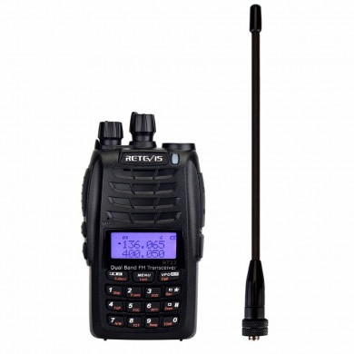 Retevis RT23 Walkie Talkie Cross-Band Repeater UHF+VHF 136-174+400-480Mhz Dual PTT Dual Receive 1750Hz Ham Radio A9122A