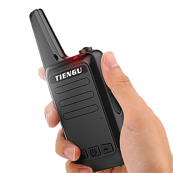 TIENGU Mini Handheld 400-480Mhz Walkie Talkie Ultra-Thin Hotel 16CH Two Way  Radio with LED Flashlight Back Clip USB Charging