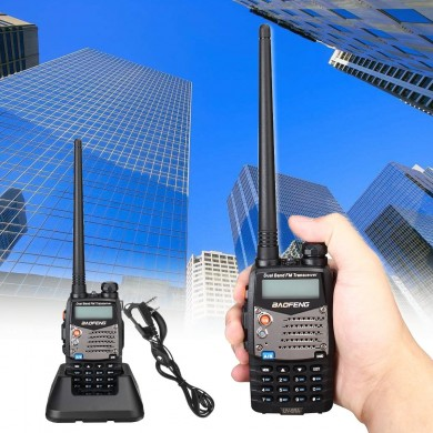 BAOFENG UV-5RA Handheld Walkie Talkie VHF/UHF 128CH Dual-Band CTCSS FM Ham Two Way Radio