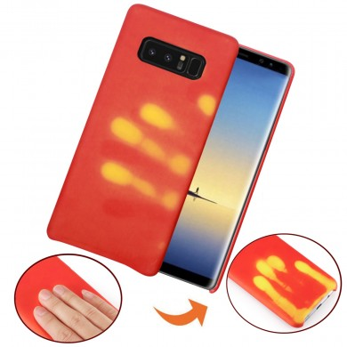 Physical Thermal Sensor Descoloración suave TPU Caso para Samsung Galaxy Note 8