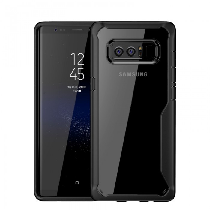 Transparente Anti Fingerprint Soft TPU Tasche für Samsung Galaxy Note 8