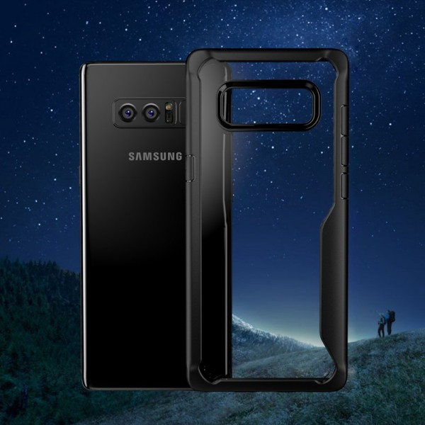 Transparente Anti Fingerprint suave TPU Caso para Samsung Galaxy Note 8