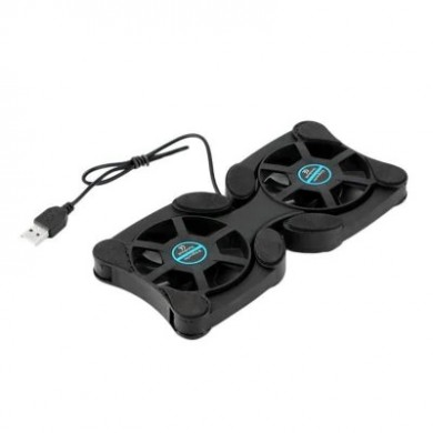 15 Inch Double Fan Foldable USB Laptop Cooling Pad