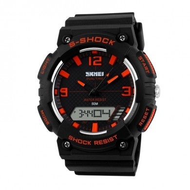 SKMEI 1057 Analog Digital Alarm Stopwatch Waterproof Men Sport Watch