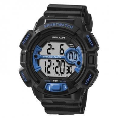 SANDA 319 Luminous Calendar Alarm Stopwatch Digital Watch
