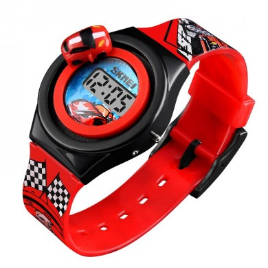 SKMEI 1376 Children Cartoon Car Creative Digital Watch