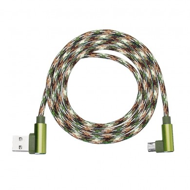 APPACS Camouflage Micro USB to USB Double 90 Dregee Right Angle Tablet Cable 2M