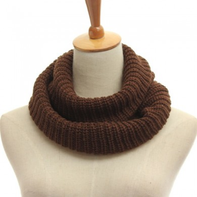 Men Women Knitted Tube Crochet Wrap Snood Cowl Neck Shawl Circle Scarf