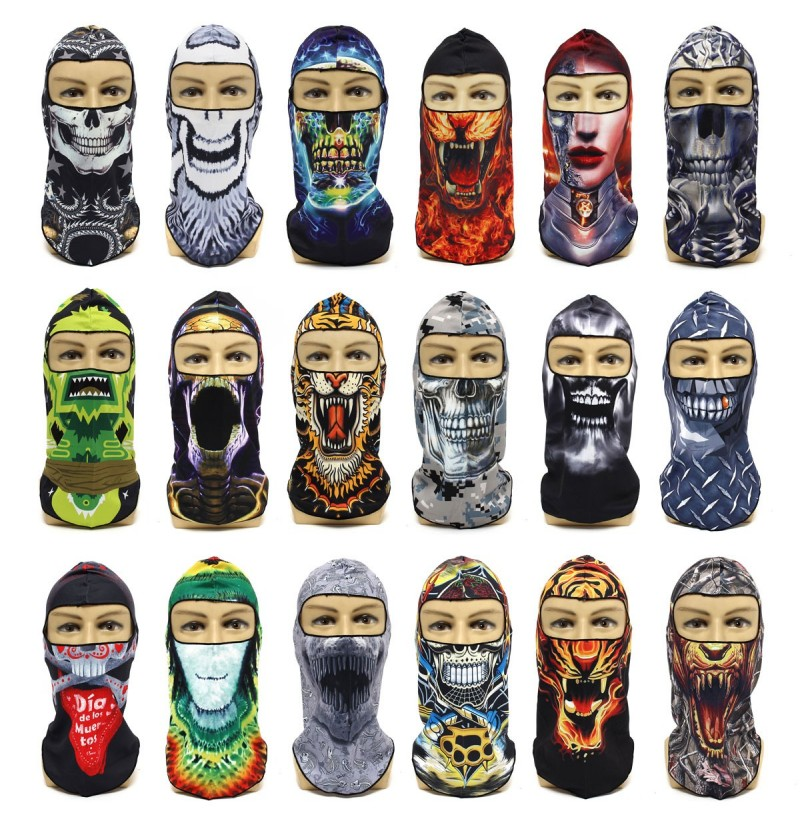 Men Male Outdoor Cycling Bicycle Ski Multifunctional Neck Full Face Mask Hat Motorcycle Cap Scarf (Color: #05) фото
