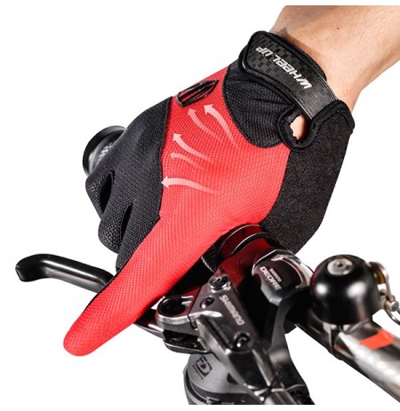 Wheelup Mens Riding Respirável Non-Slip Gloves Outdoor Soprts Touch Screen Full Fingers Mittens
