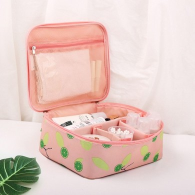 Foldable Portable Compartment Adjustable Cosmetic Bag
