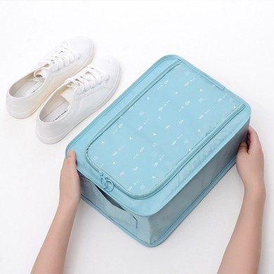 Women Print Large Portable Storage Shoe Bag Travel Bag
