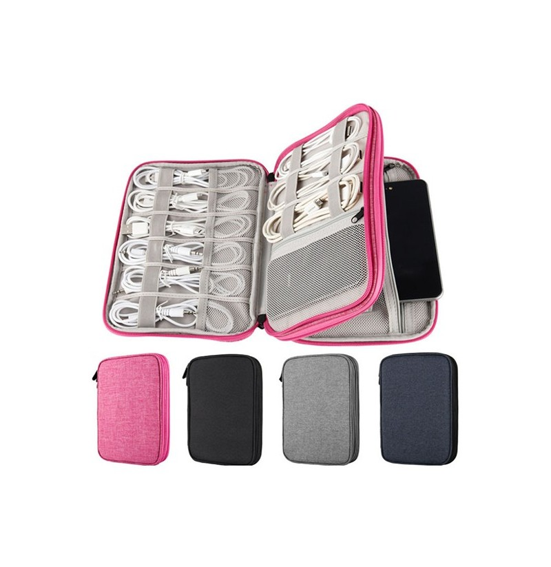Women Data Cable Storage Bag (Color: Pink) фото