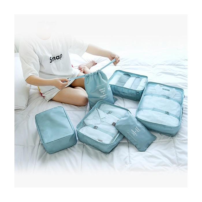 Women Men Six-piece Waterproof Travel Bag