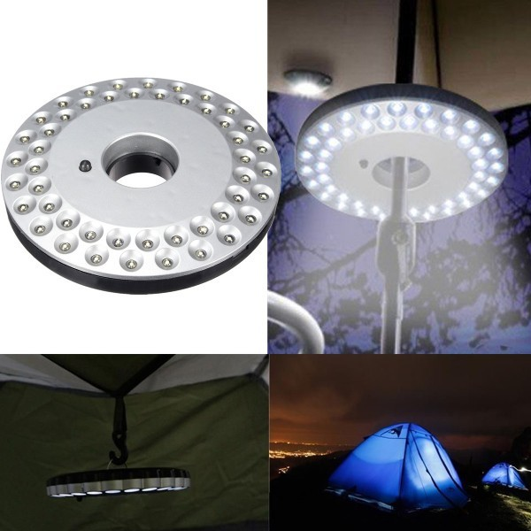 Bright 48 LED Outdoor Umbrella Hiking Yard Lamp Camping Night Light