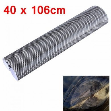 Tinting Perforated Mesh Film Fly Eye MOT Legal Tint Headlight Rear Lamp 40x106cm