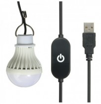 5W USB LED Light Bulb with Touch Sensor Switch for Outdoor Camping Hiking Emergency 5V