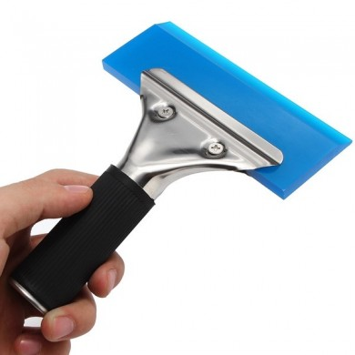 Window Film Tint Tool Blade Scraper Water Squeegee Tool With Handle Blue