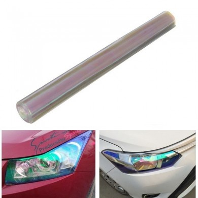 30cmx120cm Transparent Tint Film Sticker Decal Wrap for Headlight Luz de nevoeiro Lâmpada de cauda
