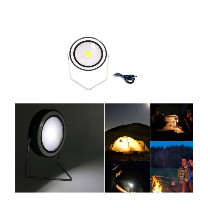 3W Portable Solar USB Rechargeable COB LED Camping Light Outdoor Waterproof Emergency Handy Lamp