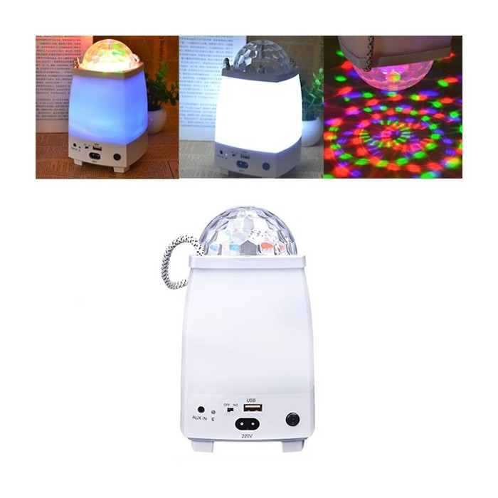 5W LED Bluetooth Altoparlante colorato Stage Night Light ricaricabile Portable Outdoor campeggio lampada