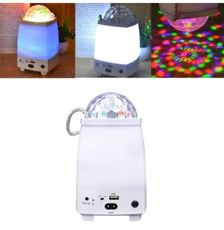 5W LED Bluetooth Speaker Colorful Stage Night Light Rechargeable Portable Outdoor Camping Lamp