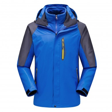 Mens Thick Fleece Winter Outdoor Water Repellent Jacket Casual Stand Collar Coat