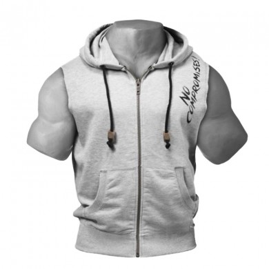 Outdoor Summer Men Casual Sleeveless Cotton Blend Leisure Sport Training Hooded T-Shirts