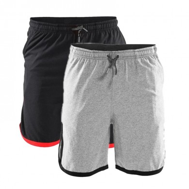 Y-280 Summer Men Gyms Workout Elastic Waist Cotton Shorts with Pockets Athletic Shorts Jersey Shorts