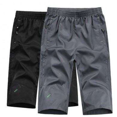 Summer Men Polyester Quick Dry Workout Shorts Elastic Waist Short Cooling Fresh UV Protection Shorts