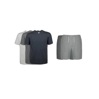 XIAOMI COTTONSMITH Men Casual Breathable Sport Short Sleeve T-shirt Shorts Pajama Set Household suit