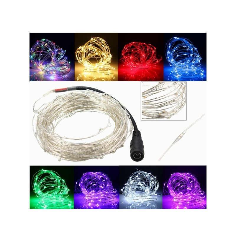 5M 50 LED Copper Wire Christmas Outdoor String Fairy Light Waterproof DC12V (Color: RGB) фото