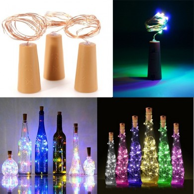 200CM Batteria Powered Cork Rame Filo LED Bottiglia di vino HoliDay Light lampada ​​per Natale Partito