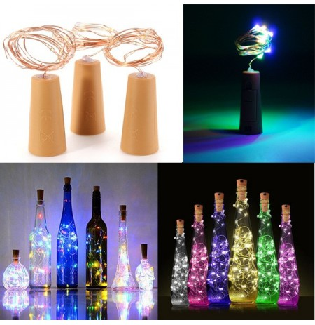 200CM Batterie Powered Cork Kupferdraht LED Weinflasche HoliDay Licht Lampe für Xmas Party