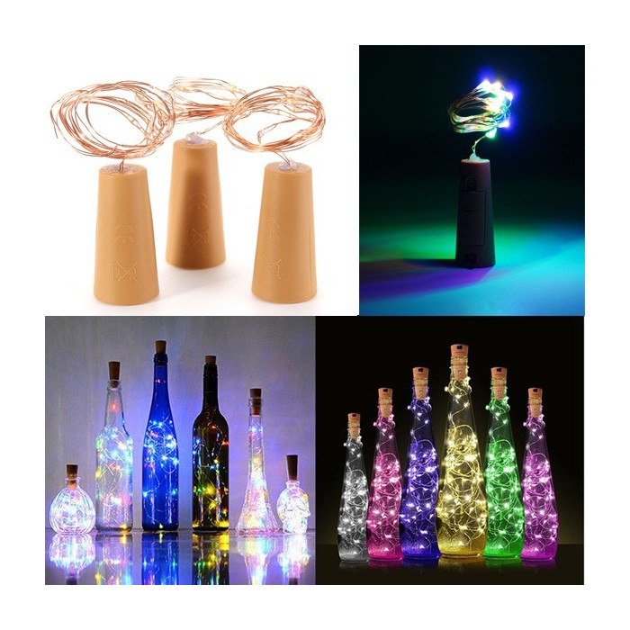 2M 20 LED Wine Beer Bottle Cork Copper Wire String Lamps Fairy Lights Xmas Party