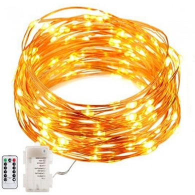 ARILUX® Battery Powered 8 Modes Waterproof 50 LEDs Copper Wire String Light With Remote Control