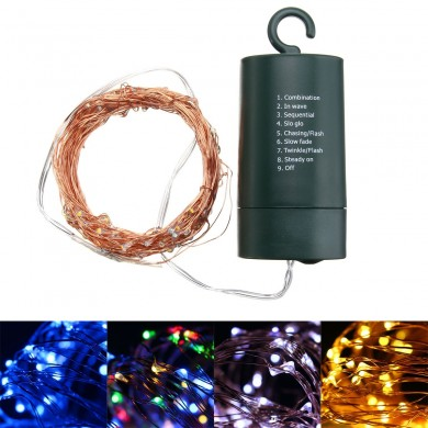 Battery Powered Waterproof 10M Copper Wire Green Shell Fairy String Light For Christmas Wedding